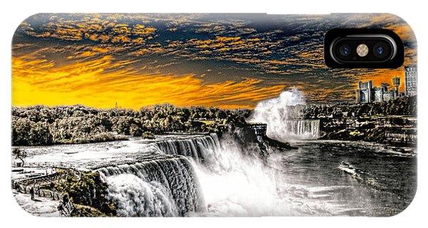 Fiery Niagara Falls IPhone Case