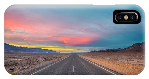 Fiery Road Though The Valley Of Death IPhone Case