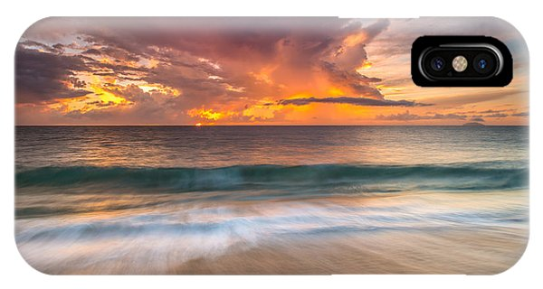 Fiery Skies Azure Waters Rendezvous IPhone Case