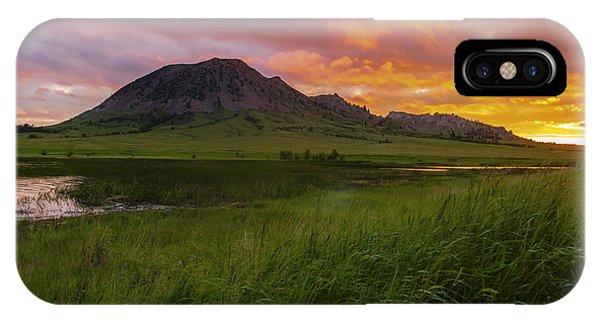 Fiery Sky Over Bear Butte IPhone Case