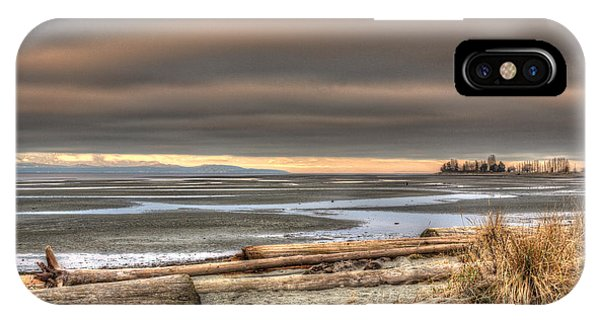 Fiery Sky Over The Salish Sea IPhone Case
