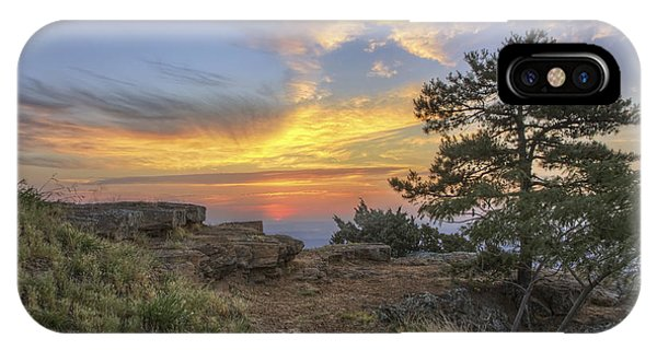 Fiery Sunrise From Atop Mt. Nebo - Arkansas IPhone Case