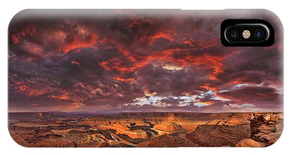 Fiery Sunrise Over Dead Horse Point State Park IPhone Case
