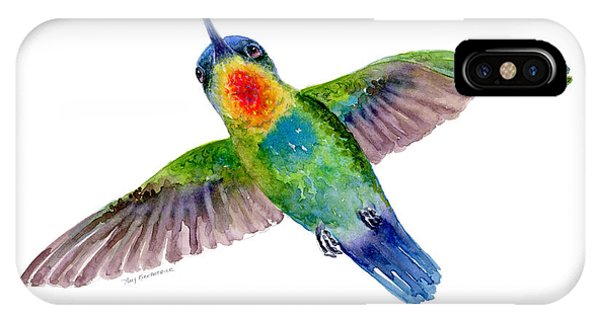 Fiery-throated Hummingbird IPhone Case