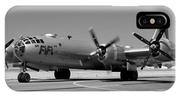 Fifi.  Enola Gay's B29 Superfortress Sister Visits Modesto Kmod. IPhone Case