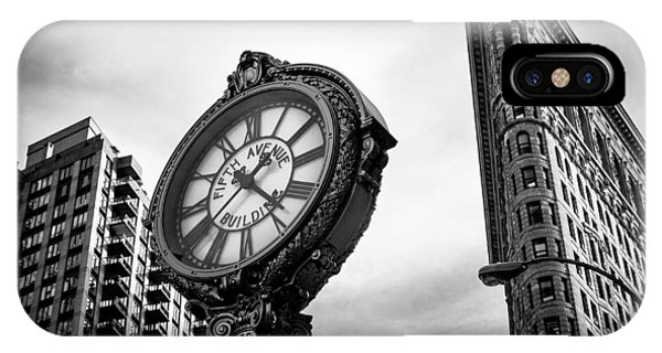 Fifth Avenue Building Clock IPhone Case