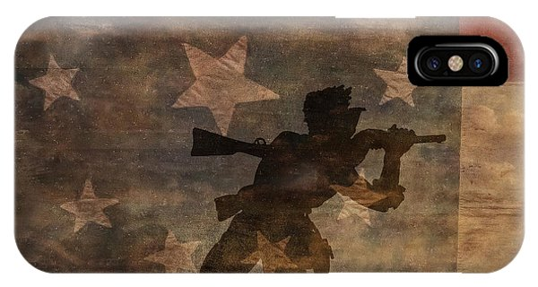 Fight To The Death Silhouette Three Of Three Phone Case by Randy Steele