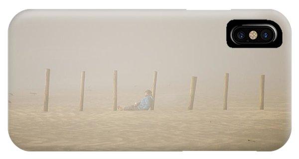 Figure In The Fog IPhone Case