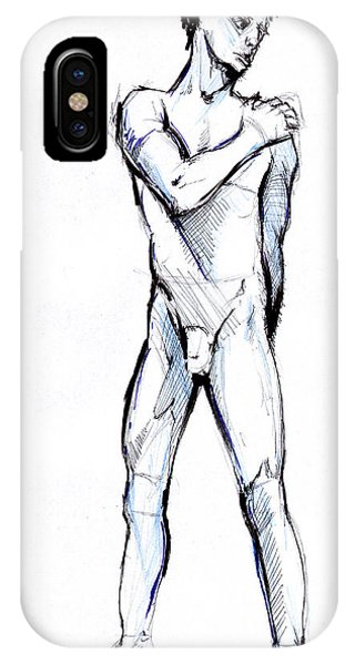 IPhone Case featuring the drawing Figure  by John Jr Gholson