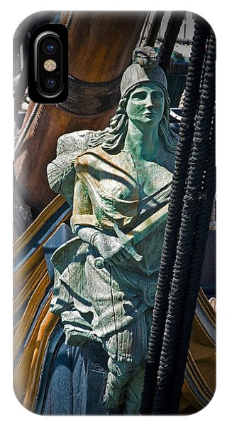 Figurehead On The Bow Of The Sailing Ship The Star Of India IPhone Case