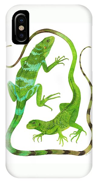 Fijian Iguanas IPhone Case