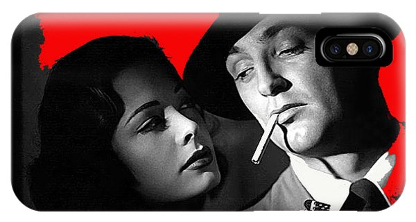 Film Noir Jane Greer Robert Mitchum Out Of The Past 1947 Rko Color Added 2012 IPhone Case
