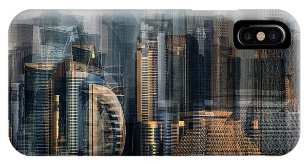 Double iPhone Case - Financial District by Hans-wolfgang Hawerkamp