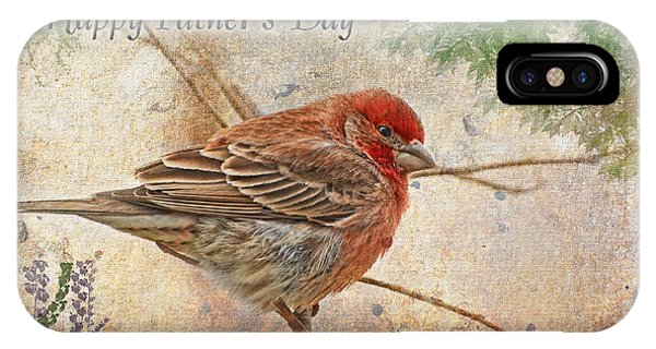 Finch Greeting Card Father's Day IPhone Case