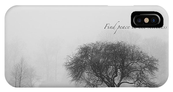 Find Peace In The Stillness IPhone Case