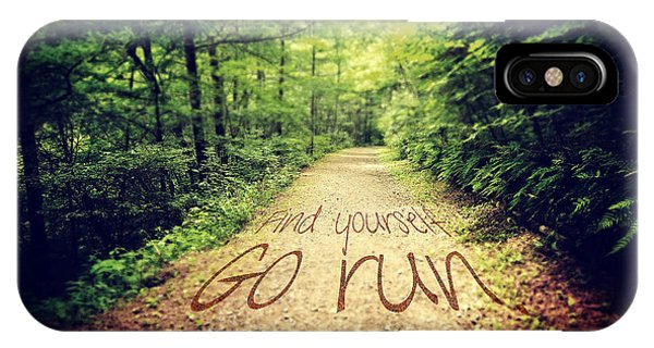 Find Yourself Go Run IPhone Case