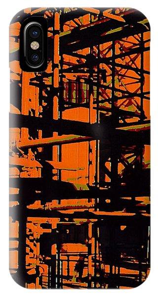Fine Art Original Digital Pipes Orange Maryland IPhone Case