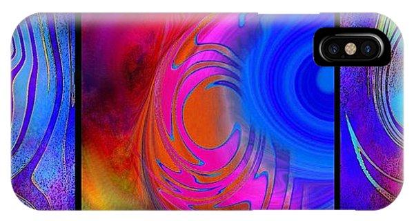 Fine Art Painting Original Digital Abstract Warp 3 IPhone Case