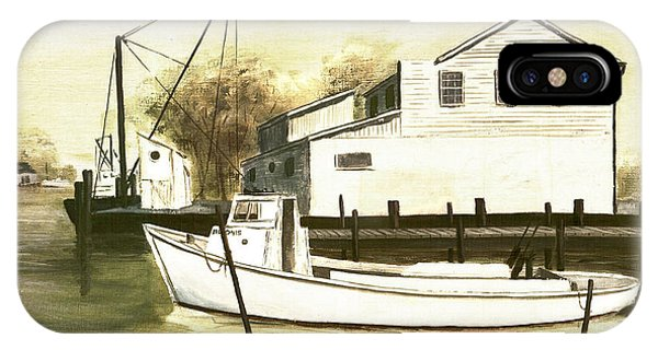 Fine Art Traditional Oil Painting Solomons Island IPhone Case