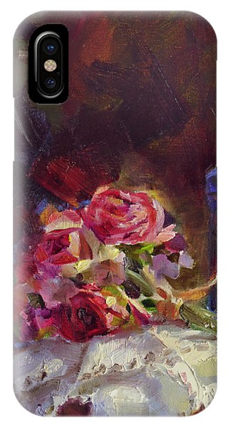 Cobalt Blue iPhone Case - Finer Things Still Life By Karen Whitworth by Karen Whitworth