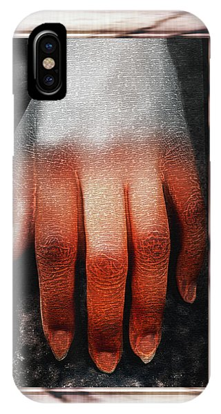 Fingers On A Rock Framed IPhone Case