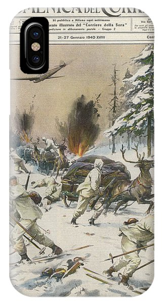 Finland  Soviet Aircraft Attack Phone Case by Mary Evans Picture Library