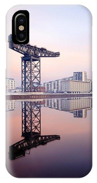 Finnieston Crane Reflection IPhone Case