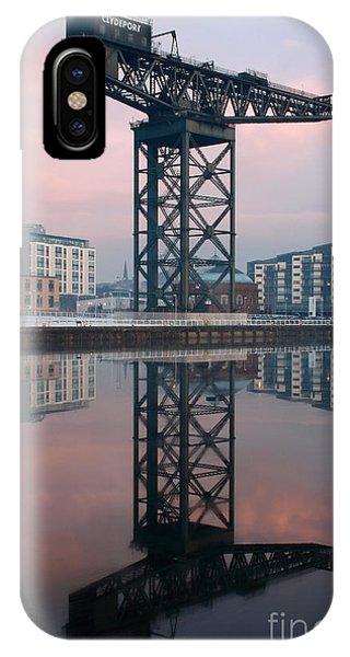 Finnieston Crane Reflections IPhone Case