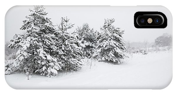 Fir Trees Covered By Snow IPhone Case