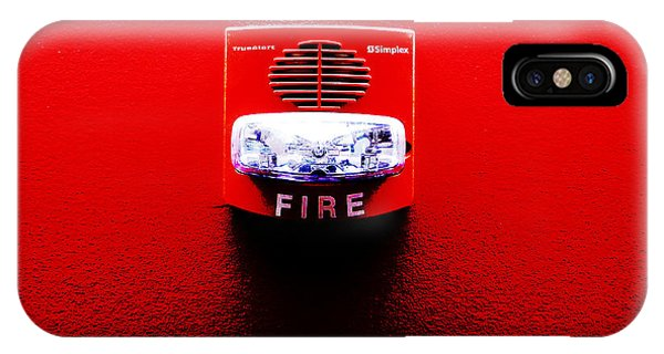 IPhone Case featuring the photograph Fire Alarm Strobe by Richard Reeve