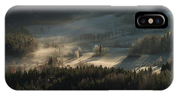 Fir Trees iPhone Case - Fire And Ice II by Izabela Laszewska-mitrega/darek Mitr?ga