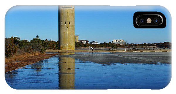 Fire Control Tower 3 Icy Reflection IPhone Case
