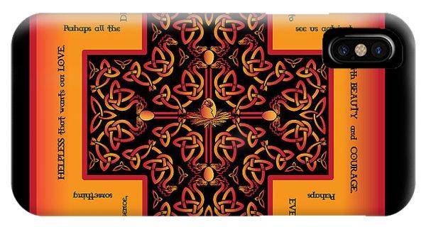 Fire Dragon Celtic Cross IPhone Case