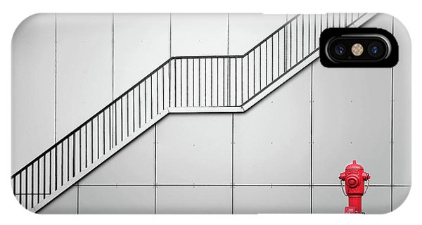 Staircase iPhone Case - Fire Escape And Tap. by Henk Van Maastricht