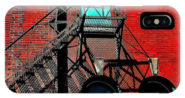 Fire Escape Imprints - Perspective 1 - Ontario - Canada IPhone Case