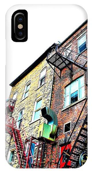 Fire Escape Lattice - Ontario - Canada IPhone Case