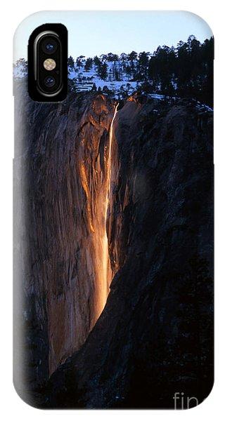 Fire Falls In Yosemite  IPhone Case