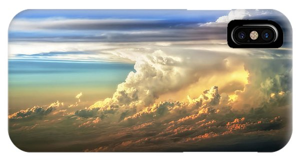 Sun iPhone Case - Fire In The Sky From 35000 Feet by Scott Norris