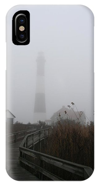 Fire Island Lighthouse In Fog IPhone Case