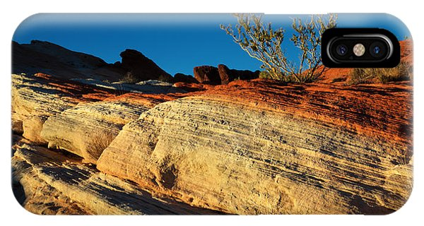 Valley Of Fire iPhone Case - Fire Lines by Chad Dutson