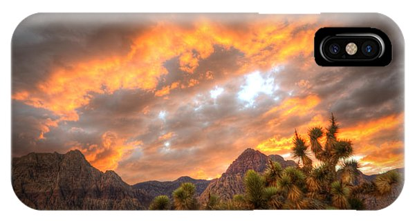 Fire On The Red Rock IPhone Case