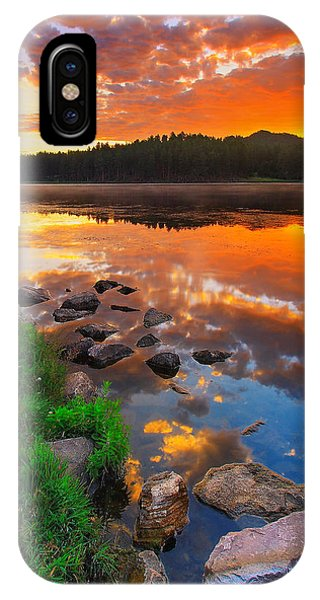 Red Sky iPhone X Case - Fire On Water by Kadek Susanto