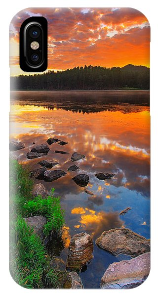 Reflection iPhone Case - Fire On Water by Kadek Susanto