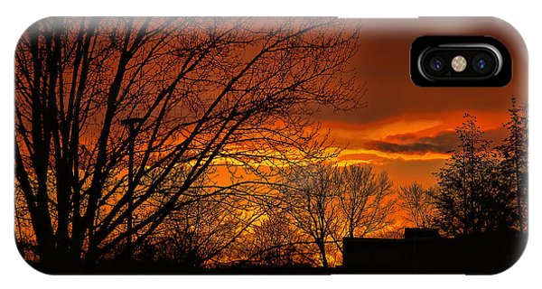 iPhone Case - Fire Sky by George Fredericks