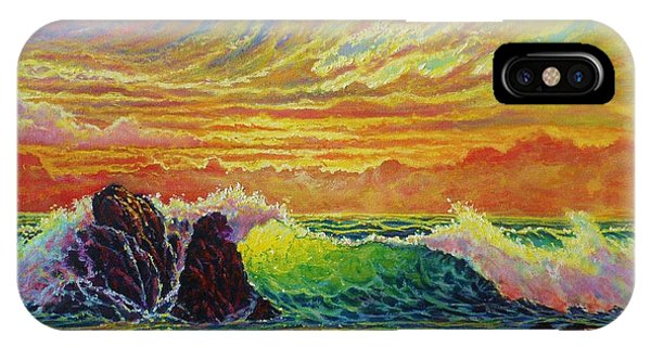 Fire Storm Sunset IPhone Case