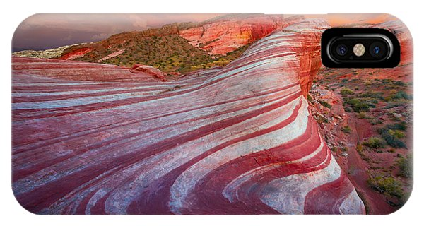 Valley Of Fire iPhone Case - Fire Wave by Inge Johnsson