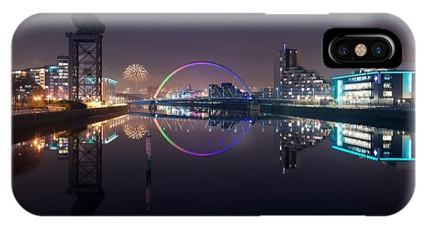 Fire Works Night Glasgow IPhone Case