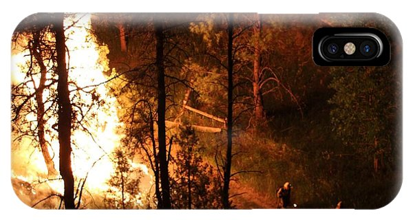 Firefighters Burn Out On The White Draw Fire IPhone Case