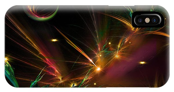 Harp iPhone Case - Fireflies Too by Phil Sadler