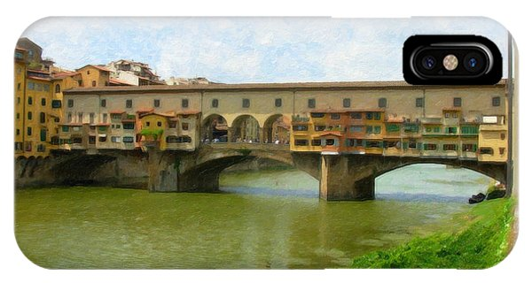 Firenze Bridge Itl2153 IPhone Case
